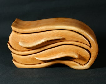 Cherry Sculpted Bandsaw Jewelry Box (Airborne)