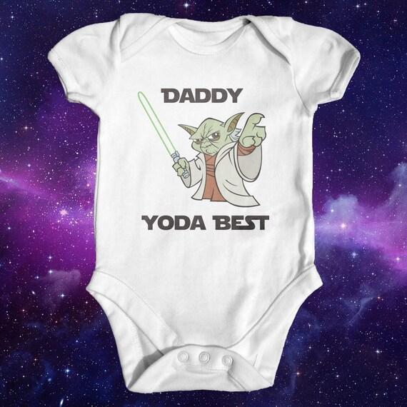 star wars yoda babybody lustige junge body baby kleidung. Black Bedroom Furniture Sets. Home Design Ideas