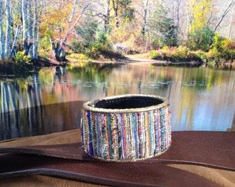 31  Wide cloth multicolored bracelet