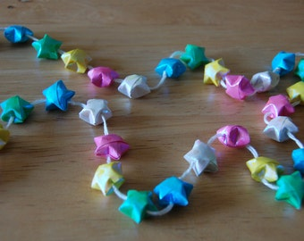 Multicolored Lucky Stars Garland