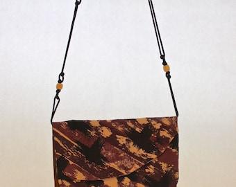 2 Pocket Brown & Purple Bag Item B1