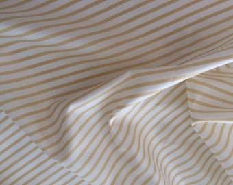 Japanese Cotton Taupe and White Stripe