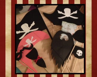 Pirate Photo Booth Props   Pirate Photobooth Props     PIRATE Party Photobooth