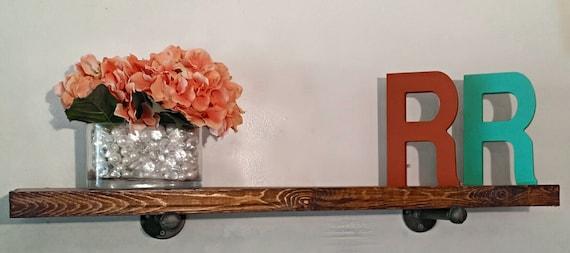 floating shelves 12 inch deep industrial by roycesdecorandmore. Black Bedroom Furniture Sets. Home Design Ideas