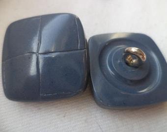 6 buttons blue button 24mm (663)