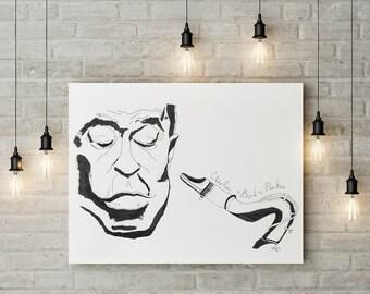 Poster Charlie Parker, jazz