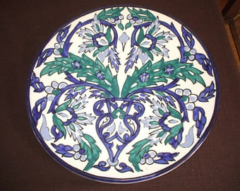 Vintage Spanish Blue and White decorative ceramic plate
