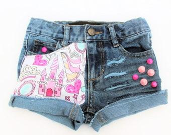Rebel Princess Distressed Denim Shorts