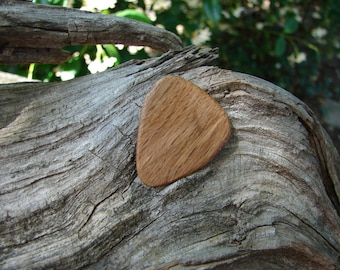Wooden Guitar Pick, Hand-Crafted, Natural Oak