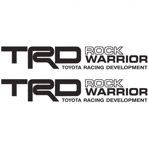 toyota trd decals etsy