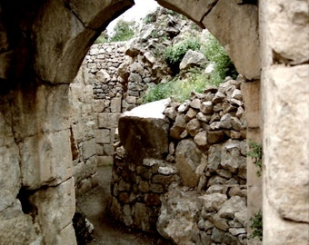 "Israel, ""Ancient Doorway"" Color Photograph on Large Canvas for Home Decor  *FREE SHIPPING"