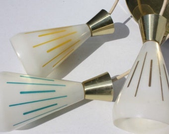 Mid Century Pendant Chandelir and Sconce