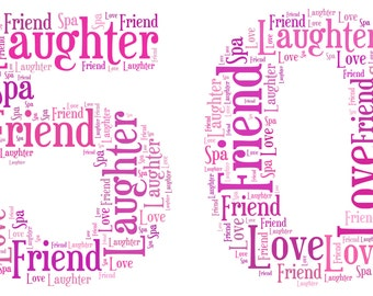 A4 Personalised Word Art Number Print 1st, 18th, 21st, 30th, 40th, 50th, 60th, 70th, 80th, 90th, 100th