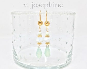 The Imogene Earring in Sea Foam