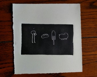Lil Dudes: Original, Hand-pulled, 1st Edition Print