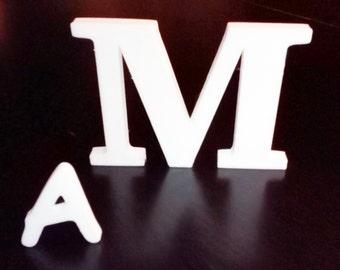 Plastic Alphabet Letters decorations for Decoupage plastic letter template