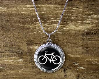 Bicycle necklace, bicycle pendant, bike necklace, bicycle jewelery