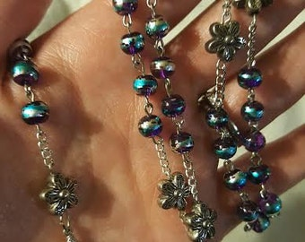 Purple Flower Rosary