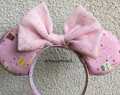 Boba Tea Mouse Ears, Minnie Mouse Ears