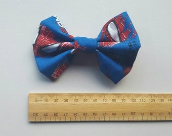 Small Amazing Spiderman Hair Bow Clip