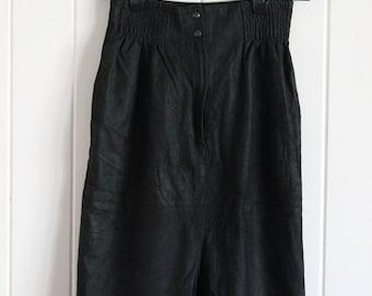 High waisted black suede look skirt grunge 90's indie