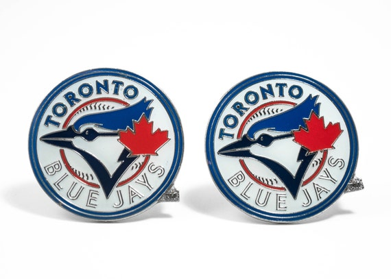 Toronto Blue Jays Cuff Links -- FREE SHIPPING with USPS First Class Domestic Mail