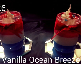 Red White and Blue Soy Candle
