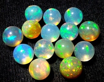 7mm Natural Ethiopian Opal Round Balls Welo Opals Round Balls Beads Undrilled / Drilled