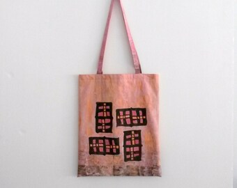 handpainted tote bag 'four of a kind'