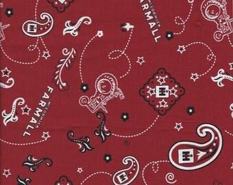 Farmall Tractor RedHandkerchief Fabric