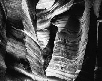 Zebra Slot Canyon, Print, 8x10 or 11x14