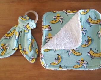 Washcloth and Teether gift set