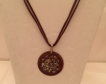 Tortoise Shell Pendant Necklace