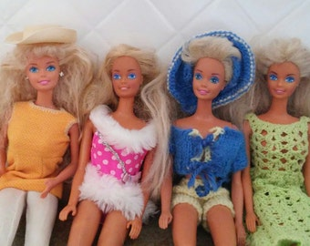 Four Barbies!