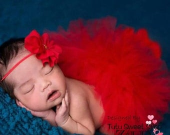 Tutu in tulle with headband for baby photography