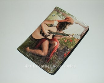 High Quality Faux Leather Passport Holder Case (Gipsy Girl)