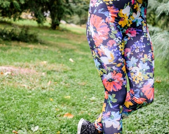 Black Floral Bouquet Legging