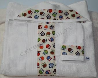 Baby Hooded Bath Towel & Washer Mitt