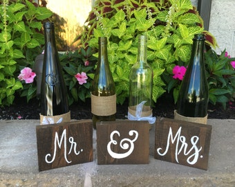 Mr. & Mrs. Small Table Signs