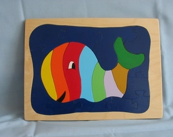 large whale inlay/tray puzzle