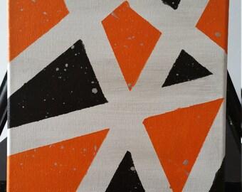 Black-Orange-Silver