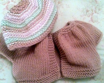 Bolero Style Doll's Cardigan and Hat