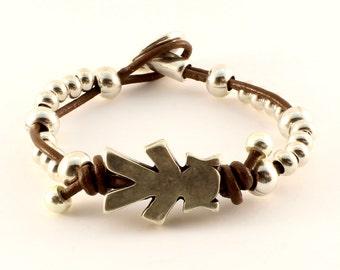 Silhouette of girl bracelet
