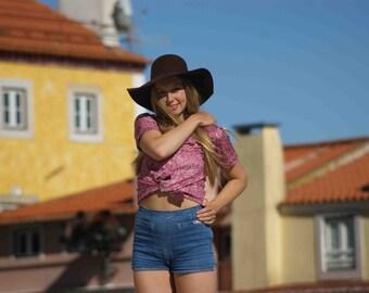 Vtg paisley blouse