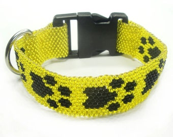 Necklace / paws collar for dogs from Miyuki beads (BS-1267)