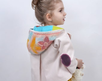 Applications, hooded wool jacket