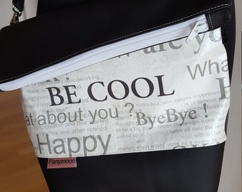 Shoulder bag PANYMOON - be cool - white black - lined