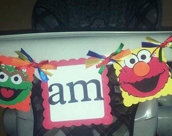Sesame Street Highchair Banner
