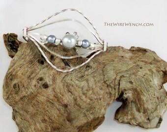Sterling Silver Pearl Bracelet