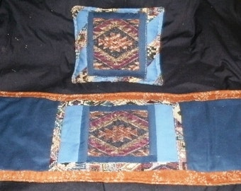 Primitive Accents Table Runner with matching Pillow